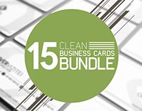15 Clean Business Card Bundle