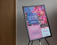 """cartaz """"Terapias da Casa"""""""