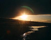 le soleil dans la fente