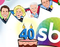 Homenagem aos 40 anos do SBT