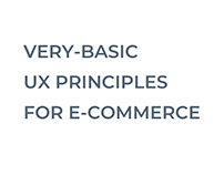 Basic UX principles for e-commerce