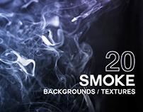 20 Smoke Backgrounds / Textures