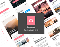 Traveling Mobile UI Kit