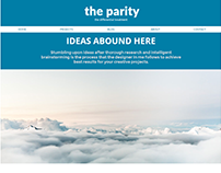Parity Creative Portfolio Website Concept