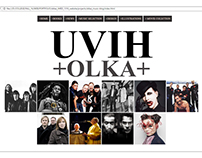 My first web page Music blog. Uviholka. School project
