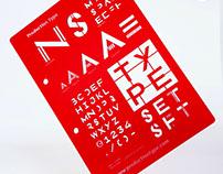 NS Type lettering guide | Type Specimen