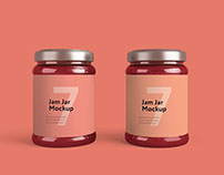 Jam jar mockup FREE SAMPLE