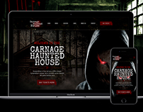 Carnage Haunted House Website