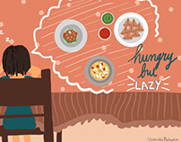 Hungry But Lazy | Unibees
