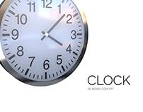 """3D model """"Clock"""" (3D Max)"""