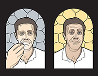 'Juicy Chews' - stained glass window design