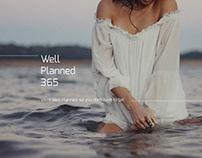 Website for travel online service WellPlanned365