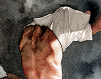 Watercolor Undressing Study