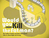 Would You Kill the Fat Man?你該殺死那個胖子嗎?中文版書封插畫設計 (COPY)