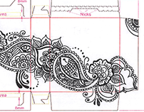 Akam Beauty - Package Design (henna art for small box)