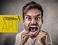 AngryMan Caricature - Photoshop CC