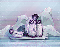Low-poly Penguins