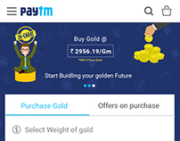 Paytm Digital Gold Page Redesign | mSite