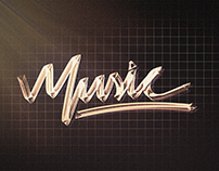 """Music"" Wallpaper - Lettering + Photoshop"