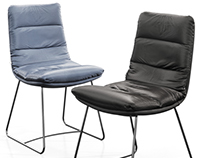 3D MODEL KFF Arva chair with skids