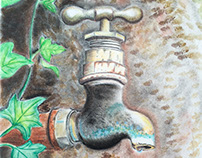 Rustic Water Spout
