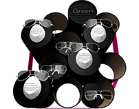 Eyeglass display-conceptual studies for Igreen