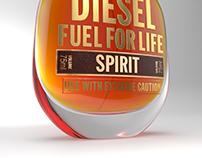 DIESEL SPIRIT Fragrance Bottle Design