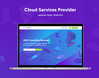 Landing Page Design - Cloud Service Providers