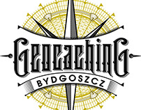 Geocaching Bydgoszcz - handlettered logo