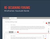 Redesigning Forums