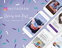 Sweet - media kit, templates for instagram