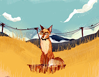 """Fantastic Mr Fox"" illustration for Bant Mag."