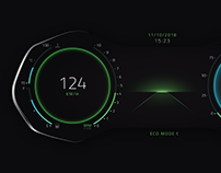 Digital instrument cluster concept