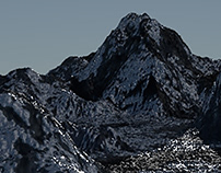 Mountainous Landscape in Blender 3D