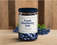 Bernardo Blueberry Farms | Packaging Label Design