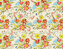 Floral and nature seamless patterns