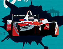 Mahindra Racing – Berlin ePrix Poster