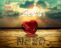"""""""All You Need Is Love"""" Typography,"""