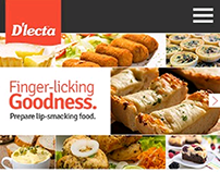 Mobile website for D'lecta Foods