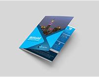 Free PSD Bifold Brochure Mockup