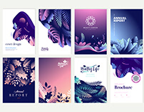 Beauty Brochure and Annual Report Design Templates