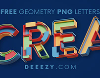 FREE Creative Geometery 3D Lettering