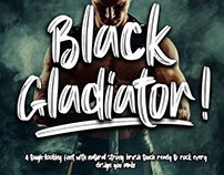 FREE | Black Gladiator Strong Brush Font