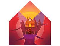 'Treehouse Hideaway' Art Print