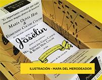ILUSTRACIÓN - INVITACIONES MAPA DEL MERODEADOR