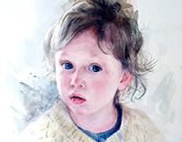 Детский портрет акварелью