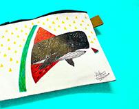 ::: 鯨魚來了 |手繪午餐包 |Hand painting Lunch Bag :::