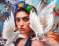 the dove woman