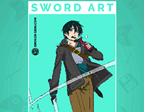 Sword Art Online Pop Art