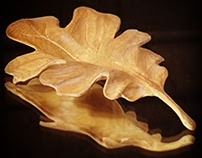 Hand-carved leaf